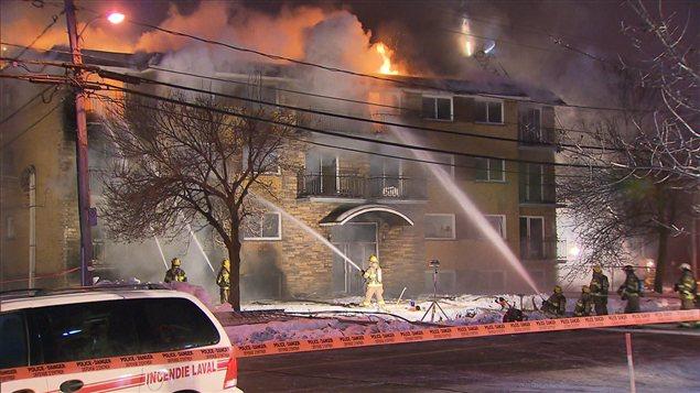 Incendie à Laval