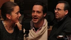 Marie-Claude Lortie, Jean-Fran�ois Leduc et Yvan Marcoux. Radio-Canada/C�cile Gladel