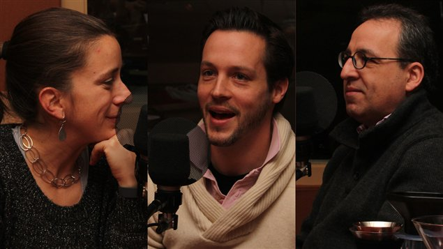 Marie-Claude Lortie, Jean-François Leduc et Yvan Marcoux. Radio-Canada/Cécile Gladel