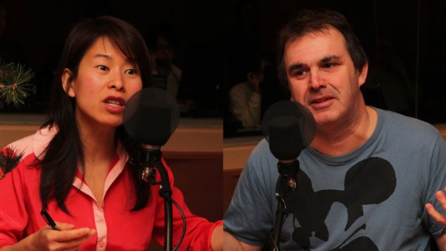 Kim Thuy Ly Thanh et Patrick Sénécal ©Radio-Canada / Sophie Laforest
