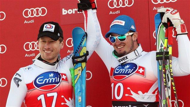 Hannes Reichelt et Dominik Paris