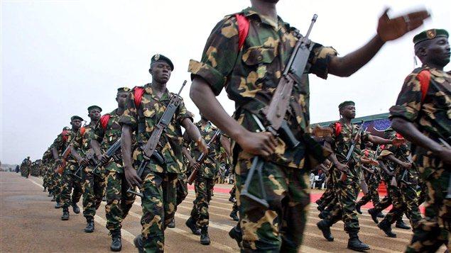 Des soldats de la Centrafrique