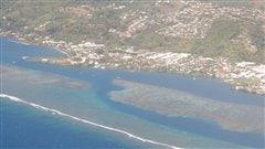 Une vue aérienne de Papeete, à Tahiti