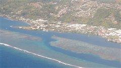 Une vue a�rienne de Papeete, � Tahiti