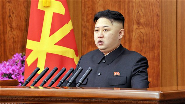 Kim Jong Un lors de son allocution du Nouvel An