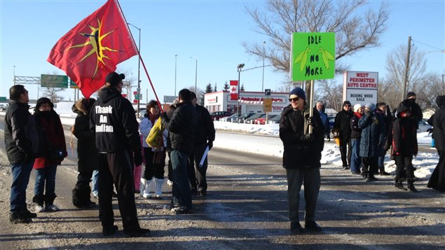 Idle No More avenue Portage blocus