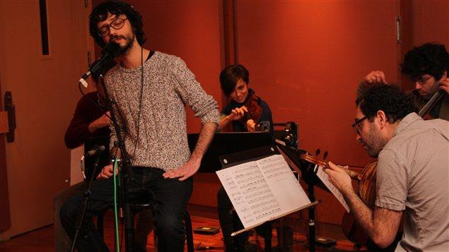 Philippe B et le Quatuor Molinari  ©Radio-Canada/Marie-Sandrine Auger
