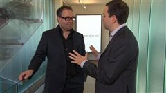 L'entrepreneur Alexandre Taillefer en compagnie de Gérald Fillion
