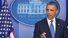 Le pr�sident am�ricain Barack Obama
