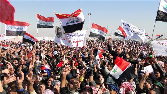 Manifestation à Ramadi, à l'ouest de Bagdad