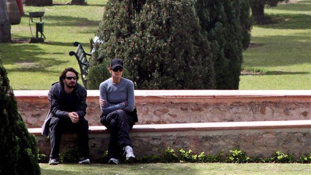 La réalisatrice Kathryn Bigelow et le producteur et journaliste Mark Boal sur le plateau de tournage du film «Zero Dark Thirty»