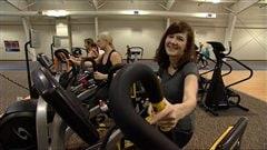 Kristin Millar, une greffée du coeur de Winnipeg, s'entraîne dans un centre sportif en janvier 2013.