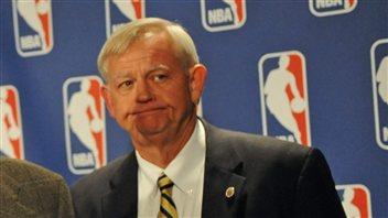 Scot L. Beckenbaugh alors qu'il était médiateur dans le conflit de la NBA, en octobre 2011