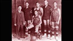 L'�quipe des Harlem globetrotters en 1927.