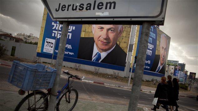 La campagne électorale bat son plein en Israël pour les élections générales du 22janvier prochain, comme ici à Bnei Brak, près de Tel Aviv