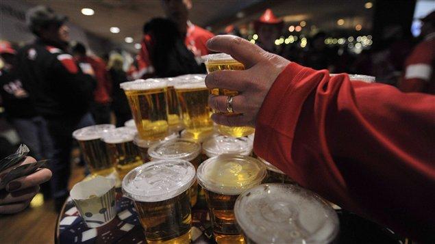 Bière et hockey