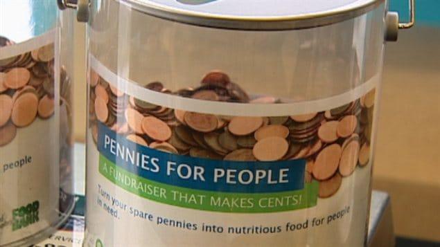 Des pièces de un cent pour la Banque alimentaire