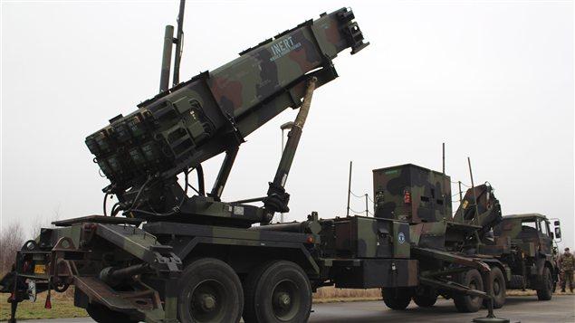Une batterie de missiles Patriot de l'armée néerlandaise.