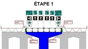 Étape 1 du projet de rénovation du pont Champlain