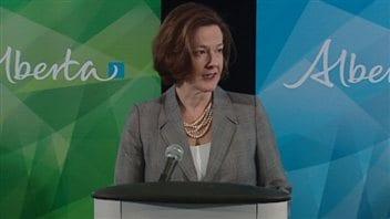 La première ministre Alison Redford