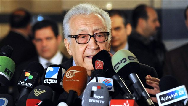 Lakhdar Brahimi à Damas (archives)