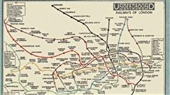Portion de la carte du métro de Londres, 1926 / © Wikipédia
