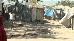 Un camp de déplacés à Port-au-Prince