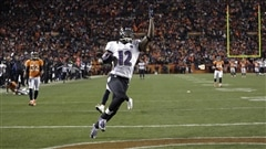 Jacoby Jones des Ravens de Baltimore marque un touch�.