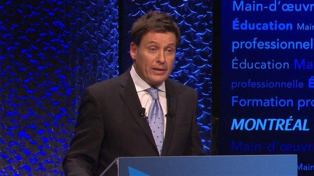 Pierre Moreau, candidat à la direction du Parti libéral du Québec