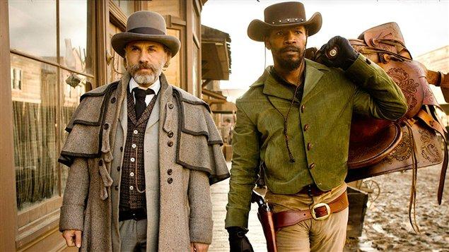 Django unchained, avec Christopher Waltz et Jamie Foxx.
