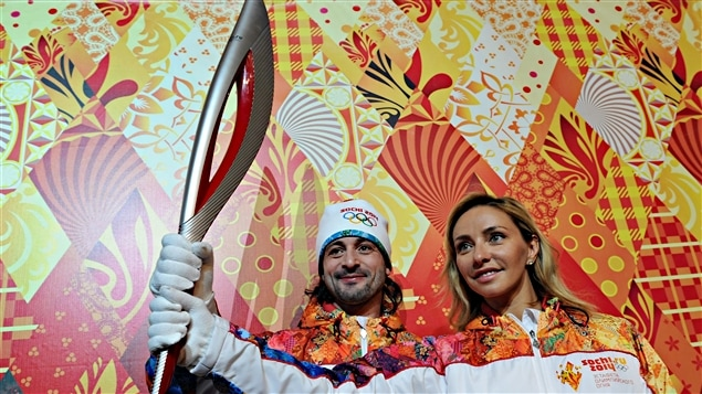 Le flambeau olympique des Jeux de Sotchi