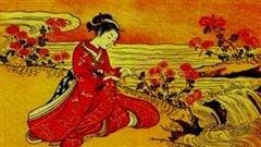 Une illustration représentant Sei Shonagon
