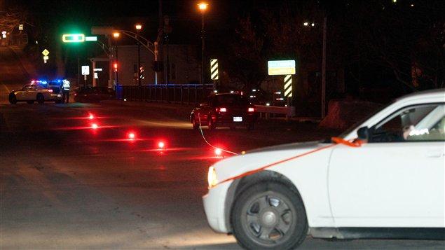 Un piéton a été fauché à Victoriaville lundi soir.