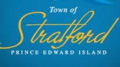 Lettrage du logo de la ville de Stratford à l'Île