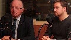 Bernard Landry et Simon-Pierre Savard-Tremblay  �Radio-Canada/Marie-Sandrine Auger