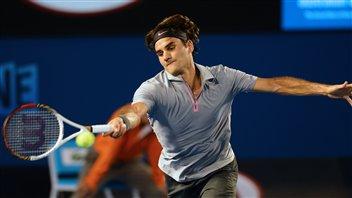 Le Suisse Roger Federer, tombeur du Russe Nikolay Davydenko 6-3, 6-4, 6-4