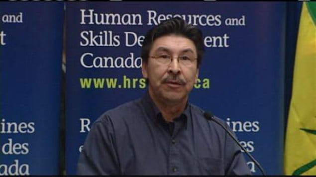 Eric Sylvestre, chef du conseil tribal de Meadow Lake en Saskatchewan