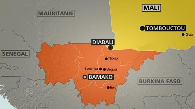 Carte du Mali