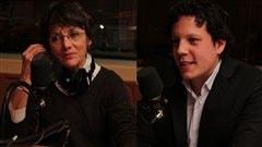 Francine Pelletier et Simon-Pierre Diamond  ©Radio-Canada/Marie-Sandrine Auger
