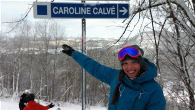 Caroline Calvé et la piste à son nom au mont Sainte-Marie