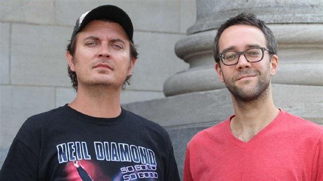 Les créateurs de Série noire Jean-François Rivard et François Létourneau.