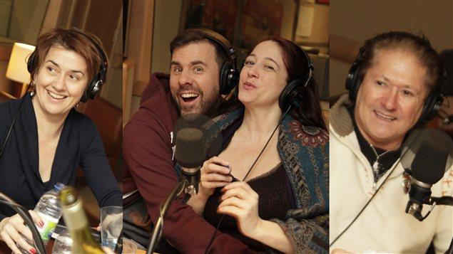 Isabelle Vincent, Bruno Marcil, Marie-Josée Bastien et Jean-Paul Daoust | © Radio-Canada / Philippe Couture