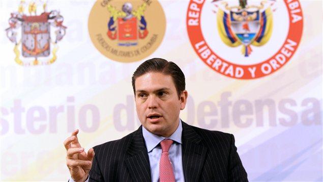 Le ministre de la Défense colombien, Juan Carlos Pinzon