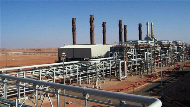Une installation de BP dans le complexe gazier d'In Amenas