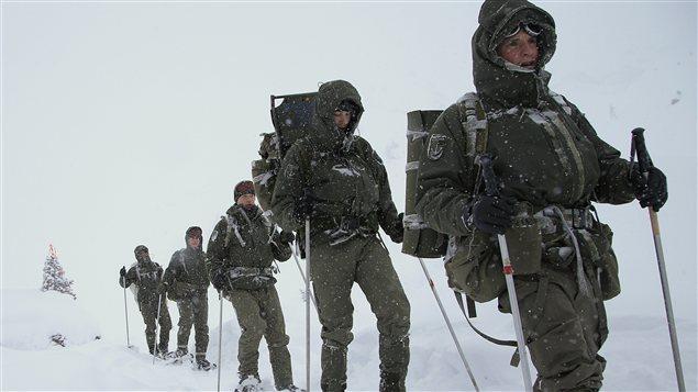 Des soldats Autrichiens à l'entraînement