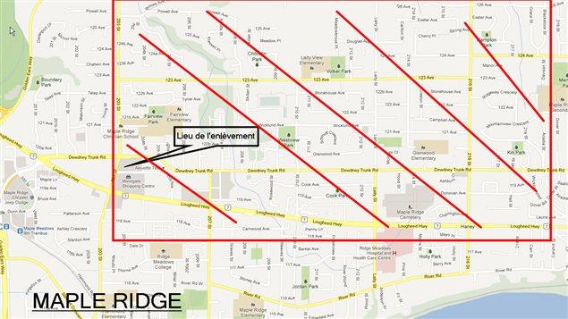 Zone d'intérêt à Maple Ridge.
