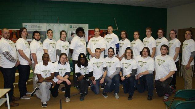 Les 33 recrues de l'équipe de football du Vert & Or de l'Université de Sherbrooke