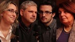 Delphine Folliet, Victor Armony,  Guillaume Marois et Aida Kamar ©Radio-Canada/Marie-Sandrine Auger