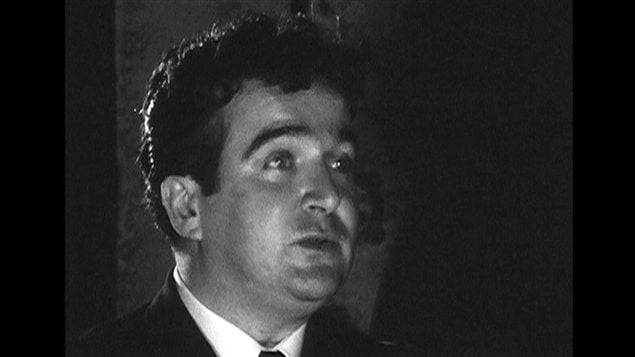 Marcel Dub� en 1957 | �Archives de Radio-Canada