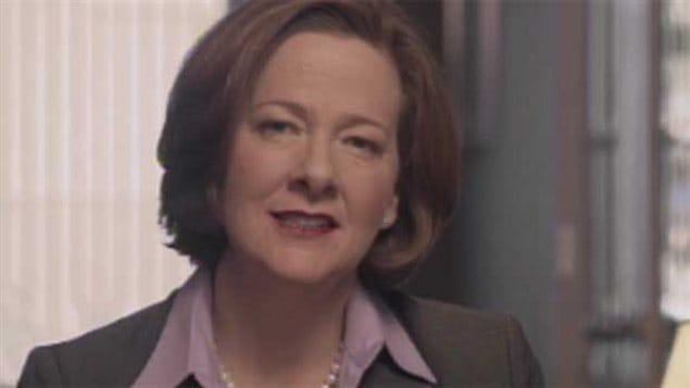 Alison Redford discute de l'état de l'économie albertaine durant une annonce télévisée, le 24 janvier 2013.